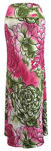 U-shot Damen Blumen Beiläufig Strand Stretch Hohe Taille Langer Bodycon Rock Jersey Kleid Style 7