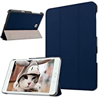 Tab A 9.7 Cases and Covers, TechCode Slim Fit Lightweight Genuine Leather Executive Multi Function Book Style Folio Smart Stand Protective Case Cover for Galaxy Tab A 9.7-Inch SM-T550