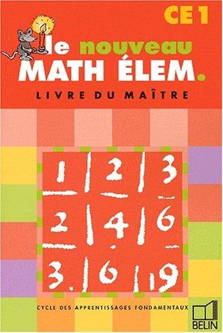 Math élem. : CE1 (livre du professeur)