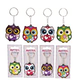 Colorful Owl keyring