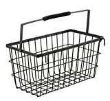 Eurostar Steel Wall Mounted Multi Utility Basket (Black)