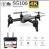 YAYY Drone con cámara WiFi FPV 4K HD,RC Quadcopter RTF Altitude Hold, Follow Me, Altitude Hold, Rotación de 360°, Modo Sin Cabeza y Retorno a Casa,Control de App