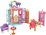 Barbie FTV98 Fantasy Fairytale Portable Castle Dreamtopia, Colourful Playset, Accessories, House, Multi