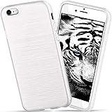 moex Apple iPhone 7/8   Hülle Silikon Weiß Brushed Back-Cover TPU Schutzhülle Ultra-Slim Handyhülle für iPhone 7/8 Case Dünn Silikonhülle Rückseite Tasche