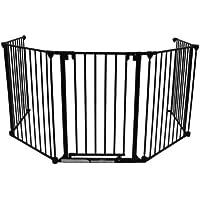 Baby Vivo Barrière Parc en Métal Grille pour Cheminée 5+1 Pare-feu Securité Escaliers Enfant en différentes couleurs (5 Barreaux avec une Porte)