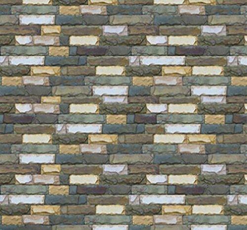 TAOtTAO 3D Ziegelstein Rustic Effect Selbstklebende Wand Aufkleber Home Decor