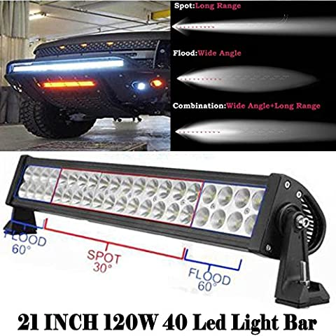 120W 53,3cm LED-Arbeitsleuchte Bars Super Bright Spot/Flood Combo Arbeiten fahren Lampe für Offroad 4x 4WD SUV Jeep Boat Traktor Recovery Tonabnehmer LKW Truck Kran