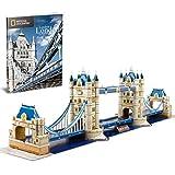 CubicFun 3D Puzzle London Tower Bridge Modell Kit Spielzeug Spiel Geschenk für Kinder und Erwachsene, 120 Teile
