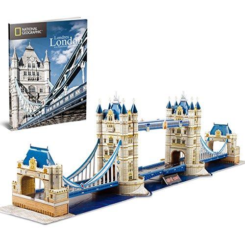 CubicFun 3D Puzzle Tower Bridge UK London Modell Kit Spielzeug für Kinder und Erwachsene, 120 Teile (3d-puzzles Für Kinder)