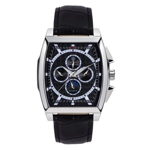 Mathis Montabon 100084–Montre de Poignet pour homme, bracelet en cuir noir
