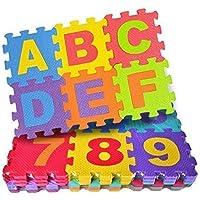 Rayfin Baby Foam Big Size Play Mat 36-Piece Set, Interlocking Alphabet and Numbers Floor Puzzle Mat Colorful EVA Tiles…