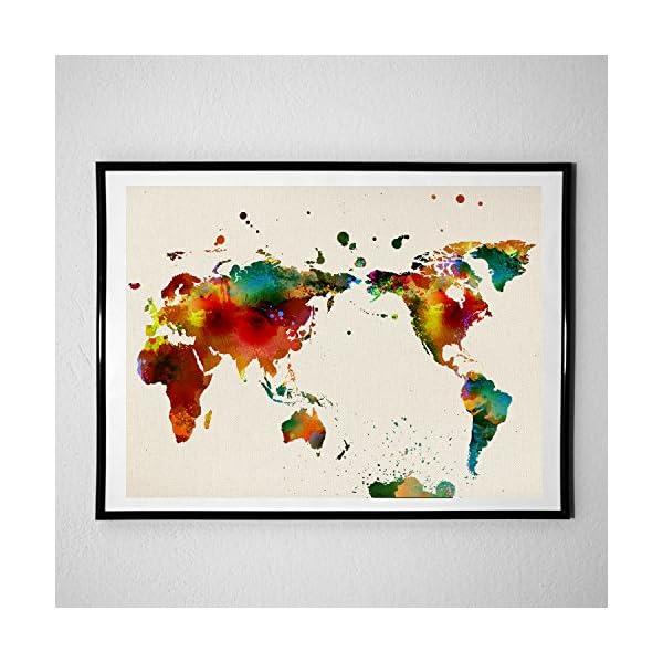 Lamina de alta calidad para enmarcar con mapa del mundo
