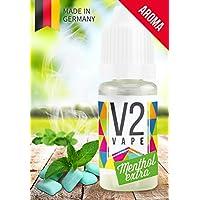 V2 Vape Menthol Extra Concentrate alta dosis de sabor a comida premium 10ml 0mg libre de nicotina