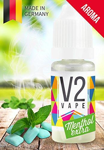 V2 Vape Menthol Extra AROMA/KONZENTRAT hochdosiertes Premium Lebensmittel-Aroma zum selber mischen von E-Liquid/Liquid-Base für E-Zigarette und E-Shisha 100ml 0mg nikotinfrei