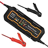 BEESCLOVER Battery Charger Smart Car Portable Quick Battery Charger 12V/6V 5A Motorcycle Lead Acid Batteries 110V Input 3A