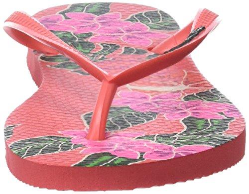 Havaianas Slim Floral, Tongs Femme Rose (Coralnew)