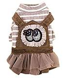Haustier Kleidung Kleine Hunde Kleid Mode Nette spezielle Kleidung Krone [Grau]