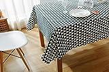 GY&H Skandinavischer Tischtuch aus Baumwolle Leinen Tisch Staubdicht Tischdecke,black, 140*200cm