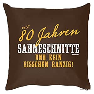 kissen sofakissen als geschenk zum 80 geburtstag sahneschnitte mit 80 geburtstagsgeschenk. Black Bedroom Furniture Sets. Home Design Ideas