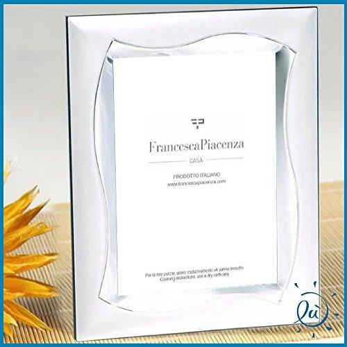 Albalù italia | idee regalo e bomboniere portafoto in argento laminato con retro in velluto misura interna 13x18 cm - esterna 19x24 cm
