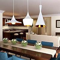 SSBY Ciondolo, 3 Light, Industrial Bianco Ferro Alluminio Spinning ,