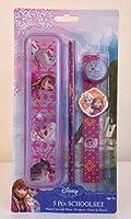 Disney Frozen-5pezzi set di cancelleria cassa di matita, gomma, matita righello e sharpner grande regalo per gli appassionati di Frozen