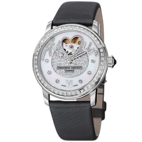 Frederique Constant Love Heart Beat FC-310SQPV2PD6 34mm Automatic Stainless Steel Case Black Satin Anti-Reflective Sapphire Women's Watch