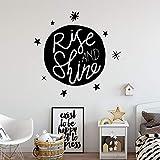 Beauté Star Wall Art Applique Décoration Bébé Chambre De Mode Autocollant Sticker Mural Papier Peint Imperméable XL 57Cm X 57Cm