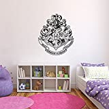 Pegatina Para Pared De Harry Potter Emblema Hogwarts Película Libro Vinil Arte Calcomanía Mural Harry Potter Wall Sticker Recamara De Niños Cuarto De Niñas Niños Sala Decoración 69x56cm Por Nia Art