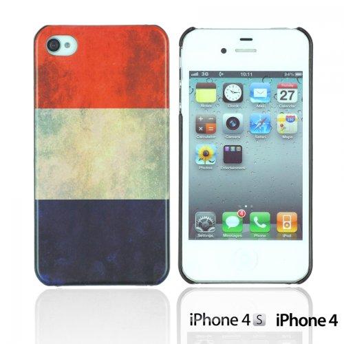 OnlineBestDigital - Vintage National Flag Hard Back Case / Housse pour Apple iPhone 4S / Apple iPhone 4 - Italie Pays-Bas