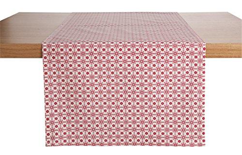 Tischläufer Mataro, 40x130cm (BxL), pink, Floral, rechteckig, Mischgewebe 1 Stück Pink Floral Tischläufer