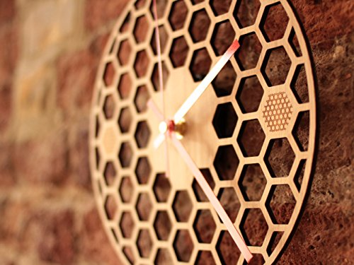 honeycomb-inspired-wooden-wall-clock-with-non-ticking-silent-sweep-unique-and-contemporary-style-bam