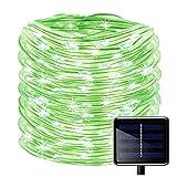 Zyumr - Stringa di luci solari a energia Solare, 100 luci a LED, Impermeabili, 8 modalità, luci a Filo in PVC, per Natale, Giardino, Recinzione, Feste e Matrimoni, Lyndee
