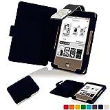 Forefront Cases® Tolino Page Shell Hülle Schutzhülle Tasche Bumper Folio Smart Case Cover Stand mit LED Licht - Leicht mit Rundum-Geräteschutz (DUNKEL BLAU)