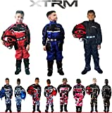 Kinder Kart Anzug XTRM Motorrad Quad Off-Road Suit Kinder Cross Sports Rennanzug für Motocross, Dirt Bike MX ATV PITBIKE Kart Motorroller Overall (Camo Rosa,S)