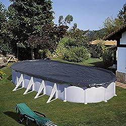Gre CIPROV501 - Couverture d'hiver pour piscine ovale, Noir, 500 x 300 cm