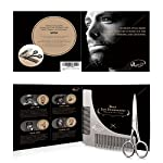 Kaiercat® Stainless Steel Beard Shaping Tool and Scissors Kit for Beard Trimming and Grooming, Gifts for Father's Day… 12