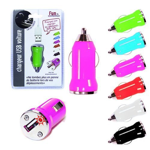 1 adaptateur 12 V / USB pour prise allume cigare tout véhicule en 12 V : smartphone, tablettes, MP3, ordinateur portable, GPS, caméra, etc