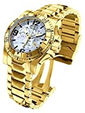 Invicta 6257 Men's Excursion Reserve MOP Blue Dial Gold Plated Steel Bracelet Chronograph Dive Watch