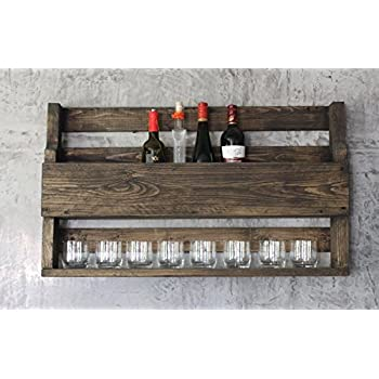 weinregal whiskey regal wein glas whisky gl serhalter flaschenregal 90 cm holz k che. Black Bedroom Furniture Sets. Home Design Ideas