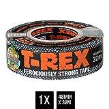 T-Rex Tape - Ruban adhésif extrêmement indéchirable & imperméable 821-55 - Répare, renforce et fixe - Pouvoir adhésif extrême - Dimensions : 48mm x 32m - Couleur gris