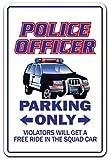 Deko Schilder mit Sprüchen Police Officer Geschenk Peace Cop Crime Patrolman Abteilung Patrol Metall Aluminium Wand Schild Hinweisschild