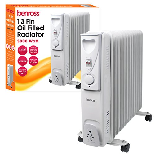 5149T XdXhL. SS500  - BENROSS 46770 13 Fin Oil Filled Radiator, Steel, Silver