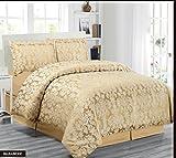 Skippys Diane 4tlg. Bettwäsche Bettbezüge+ 2 Kissenbezüge Gold Bettwäsche 260x220