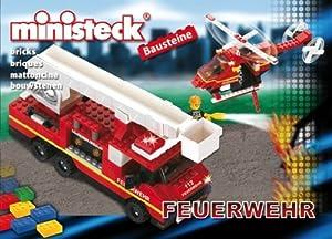 Desconocido Ministeck 24.508 Bloques de un camión Escalera de Incendios con helicópteros
