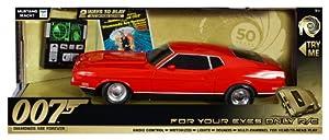 James Bond 62063 - 1971 Ford Mustang Mach, Coche por Control Remoto (con Luces y Sonido, 32 cm, Diamantes para la eternidad) - 50th Anniversary 1971 Ford Mustang Mach radiocontrol