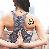 Om símbolo de yoga - Tatuaje temporal (conjunto de 2)