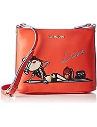 Love Moschino - Moschino, Bolsos bandolera Mujer, Orange, 7x20x26 cm (B x H T)