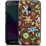 Samsung Galaxy XCover 4 Hülle Case Handyhülle Retro Bunt Blumen