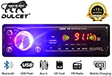 Dulcet DC-A-4006 Double IC High Power Universal Fit Mp3 Car Stereo with Bluetooth/USB/FM/AUX/MMC/Remote & Built-in Equalizer with Bass & Treble Control [Also, Includes a Free 3.5mm Premium Aux Cable]